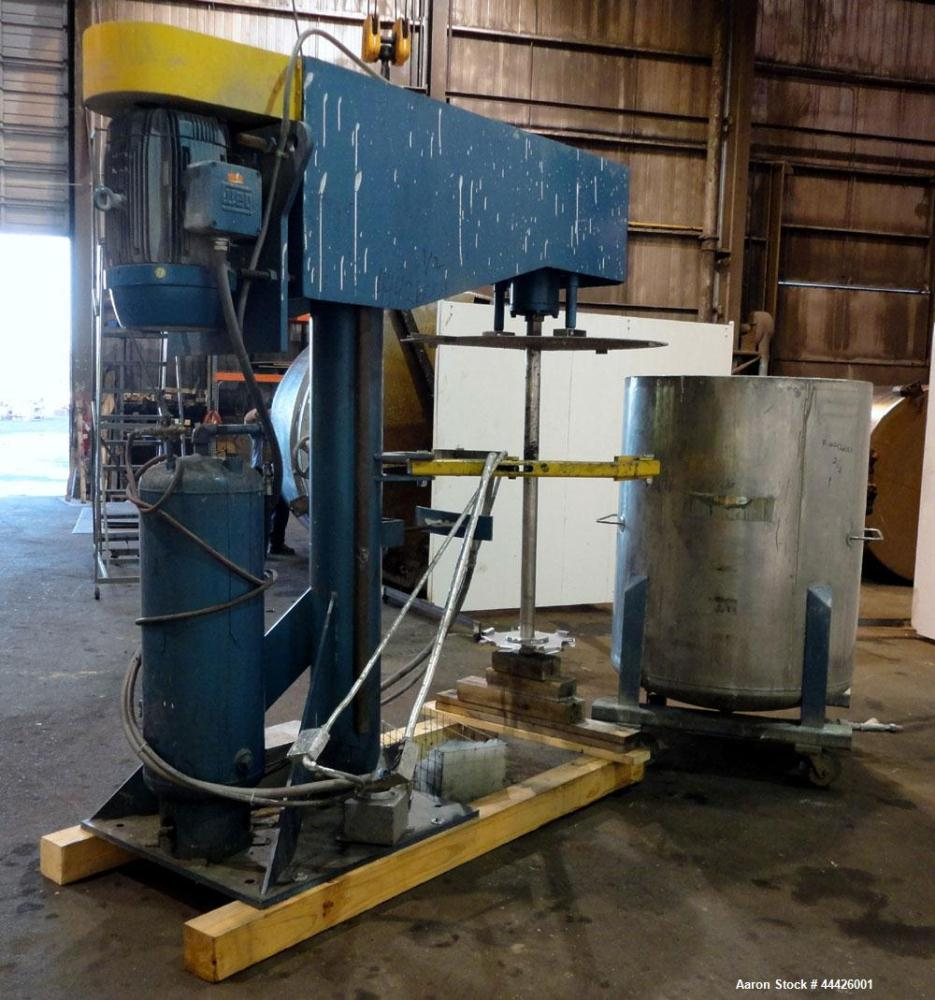 "Used- Bowers Disperser. 2-1/2"" Diameter approximate 53"" long 316 stainless steel shaft with a 304 stainless steel 18'' diame..."