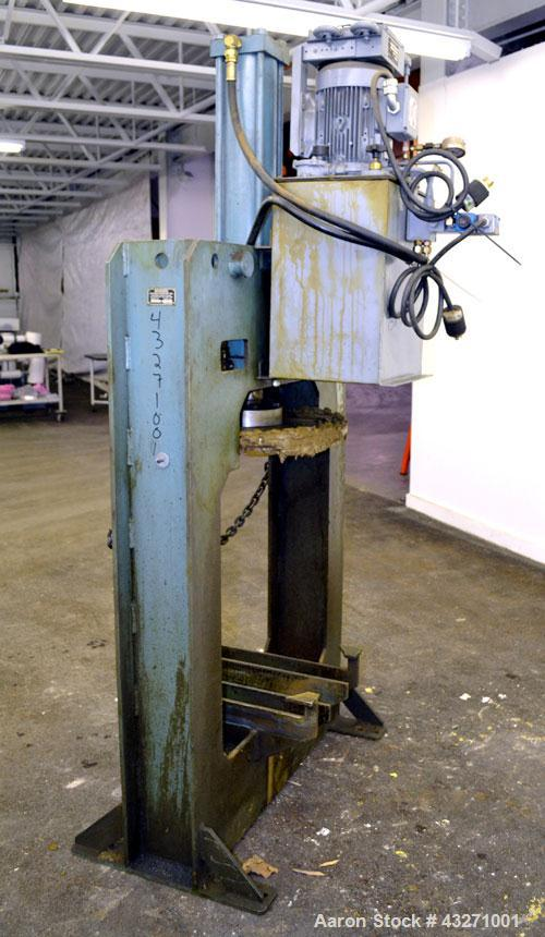 Used- Carbon Steel Bowers Process Equipment Tank Press Discharger, Model T.P.