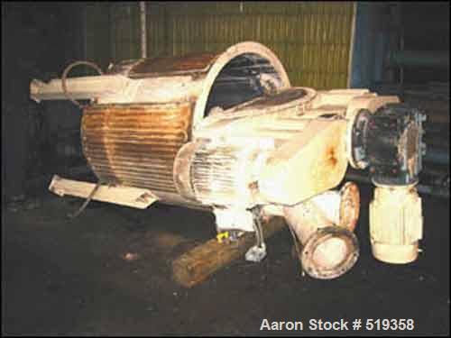 USED: 400 gallon Ross tank mounted Versamix, model VM400, carbon steel construction. 4' diameter x 4' straight side, dish bo...
