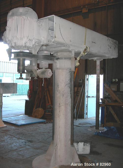 """Used- Cowles Dissolver, Model 1030VHVX. 3-1/2"""" Diameter x 66"""" long stainless steel shaft with 20"""" diameter sawtooth blade. W..."""