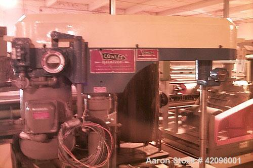 "Used- Cowles dissolver (mixer), model 410VHV, 10 hp, 550 volts, 60 Hz, 3 phase, 1800 rpm, 10.5 amps, 43"" shaft, 7-1/2"" diame..."