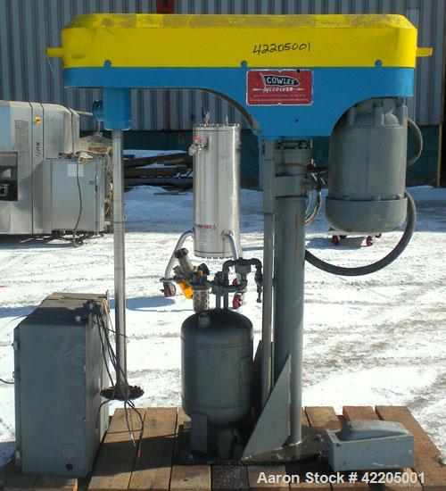 """Used- Cowles Disperser, Model 410VHV. 1-3/4"""" diameter x 43"""" long, 304 stainless steel shaft with a 7"""" diameter sawtooth blad..."""