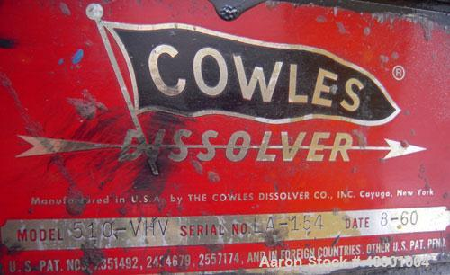 """Used- Cowles Dissolver, Model 510VHV. 1 1/2"""" diameter x 44"""" long stainless steel shaft, no blade. Will center in an approxim..."""
