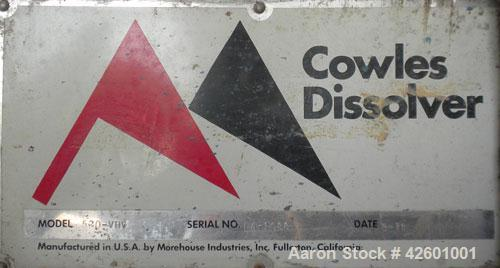 "Used- Morehouse Cowles Hi-Shear Dissolver, Model 520-VHV. (1) 2"" Diameter x 60"" long 316 stainless steel shaft with a 12'' d..."