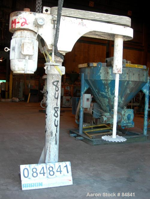 """USED: Cowles dissolver, model 720VHV. 2-1/2"""" diameter x 66"""" long stainless steel shaft with a 16"""" diameter sawtooth blade. W..."""