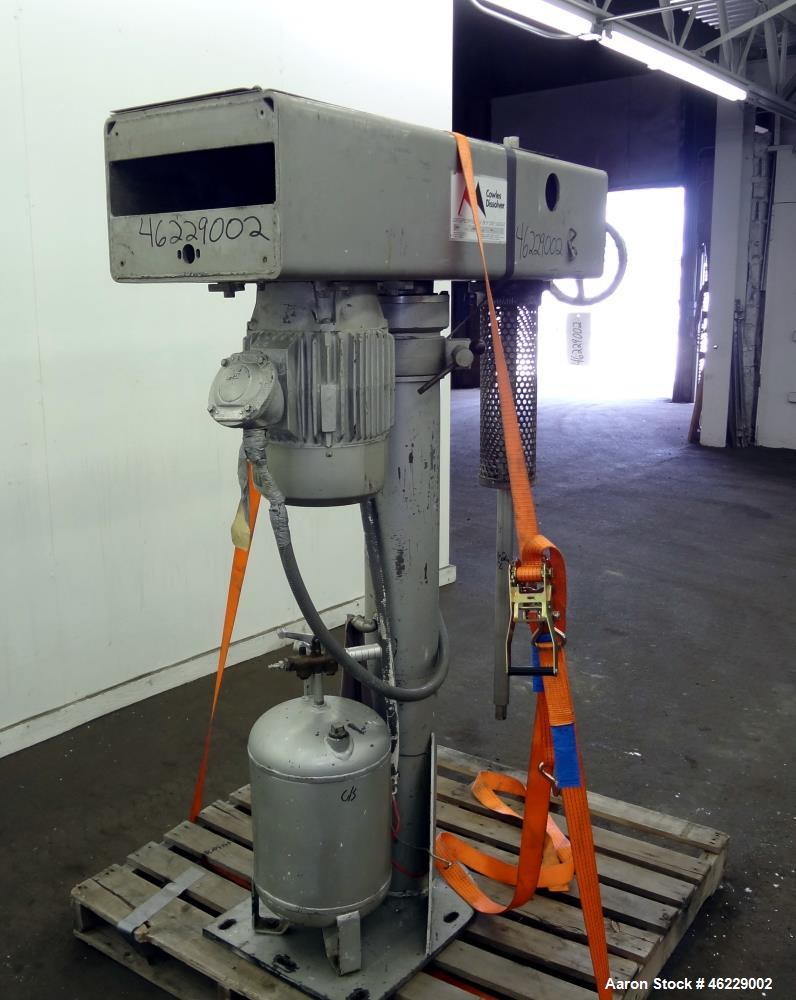 "Used- Cowles Disperser, Model W-24-1X. 304 Stainless steel shaft 1-3/4"" diameter x 46"" long (no mixing blade). Driven by 10 ..."