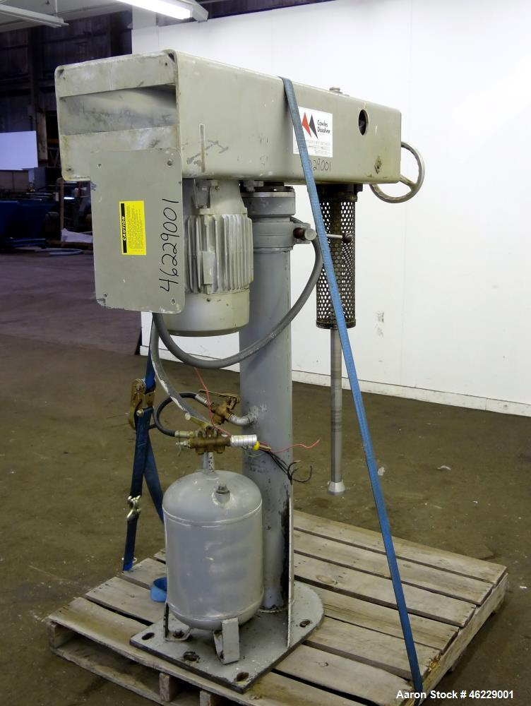 "Used- Cowles Disperser, Model W-241X. 304 Stainless steel shaft 1-3/4"" diameter x 46"" long (no mixing blade). Driven by 10 h..."