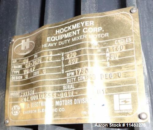 Used- Hockmeyer Triple Shaft Vacuum Mixer. Mixer has (2) 60 HP dispersers, 230/460 volts, 3PH, 60HZ, 1800 RPM with two tier ...