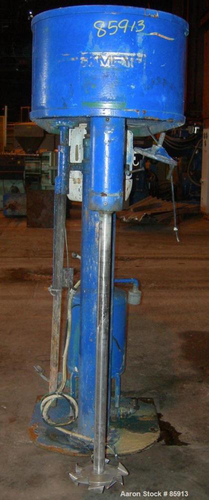 "USED: Hockmeyer Disperser, model HV10. 2-3/4"" diameter x 44"" long, 304 stainless steel shaft with a 9"" diameter style ""G"" bl..."