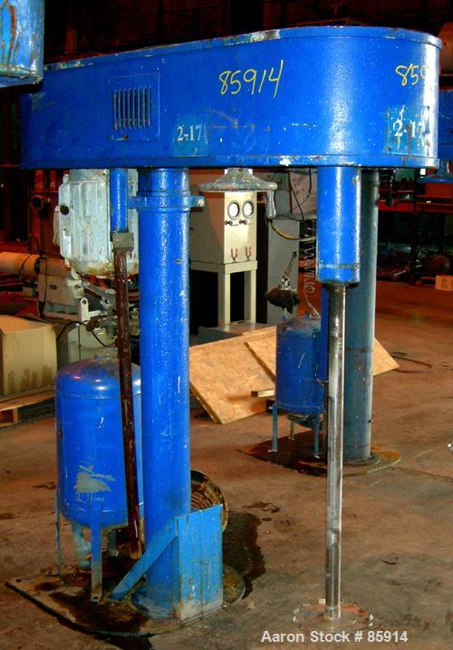 "USED: Hockmeyer disperser, model HV10. 2-3/4"" diameter x 44"" long 304 stainless steel shaft with a 9"" diameter style ""G"" bla..."