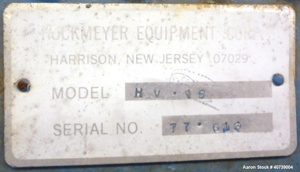 Used- Hockmeyer Disperser, model HV15