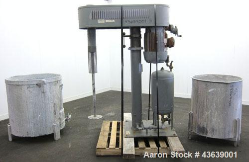 """Used- Hockmeyer Disperser, Model HV15. 2"""" Diameter x 41"""" long 304 stainless steel shaft with a 10"""" diameter saw tooth blade...."""