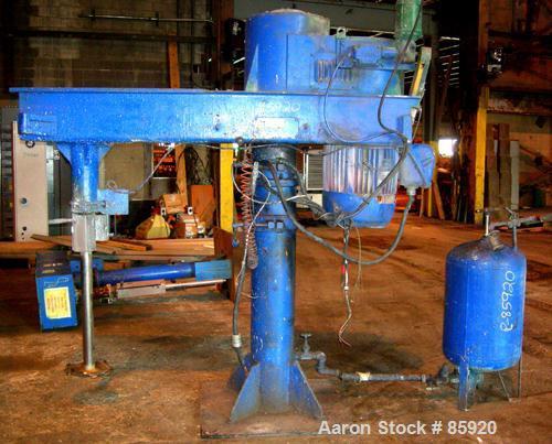 """Used- Hockmeyer Heavy Duty Disperser, Model HVR-50. 3"""" diameter x 39"""" long, 304 stainless steel shaft, 15"""" diameter style """"G..."""