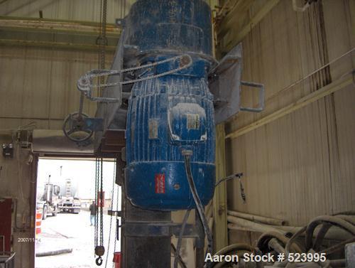 "USED: Hockmeyer model HVR-60 disperser. 60 hp, manual variable speed, air/oil, stainless steel shaft. Throat dimension 46"". ..."