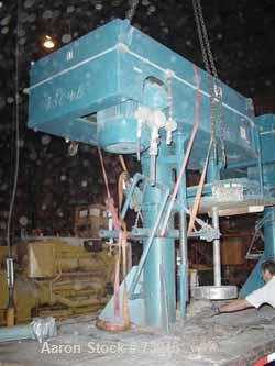 """USED: Hockmeyer single shaft disperser, model HHL-II-550. 3"""" diameter shaft with an 18"""" diameter sawtooth blade. Driven by a..."""