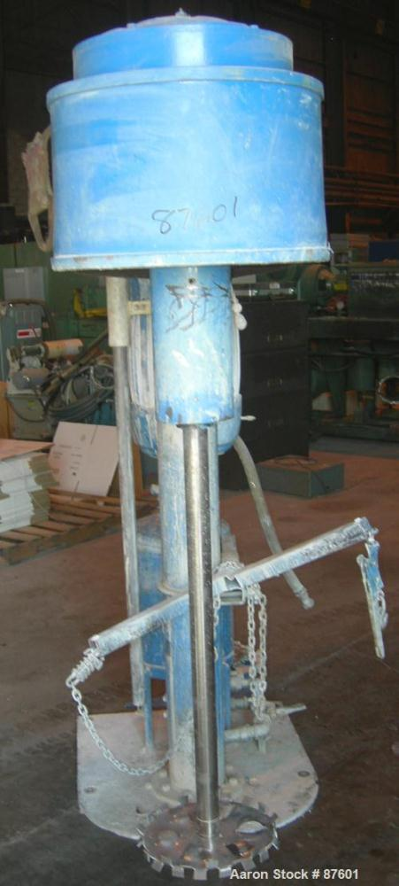 "USED: Hockmeyer Disperser, 2"" diameter x 38"" long stainless steel shaft with a 14"" diameter blade. Will center in an approxi..."