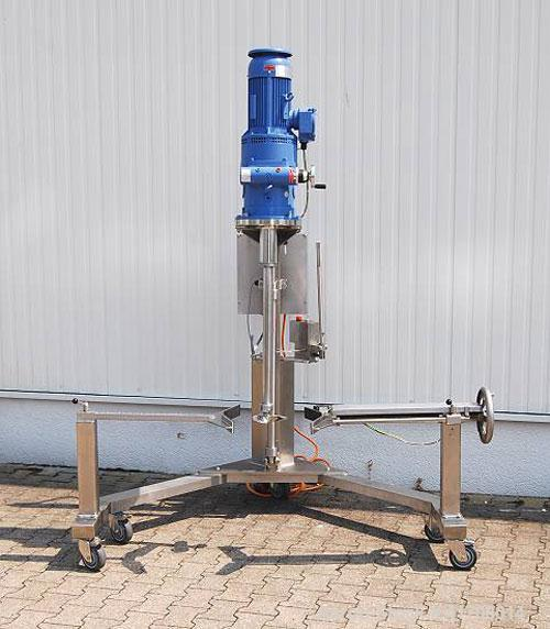 Used-IKA KT 115 ATEX Mobile Stirrer. Two vertical arms hold the drums in place, 4 hp/3 kW, 2850 rpm drive, 220/380V/3/50, pl...