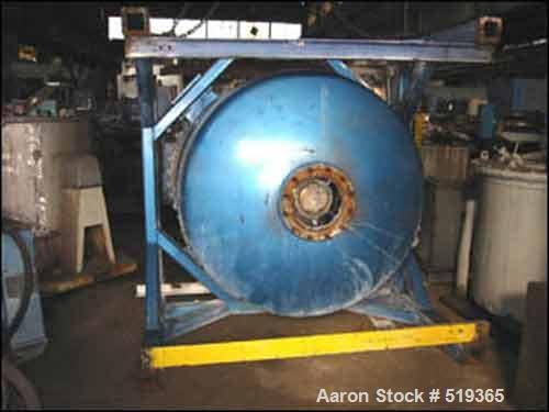 """USED: Jaygo 750 gallon co-axial tank mounted mixer, model 750TS/Co-Axial. Carbon steel construction, 60"""" diameter x 72"""" stra..."""