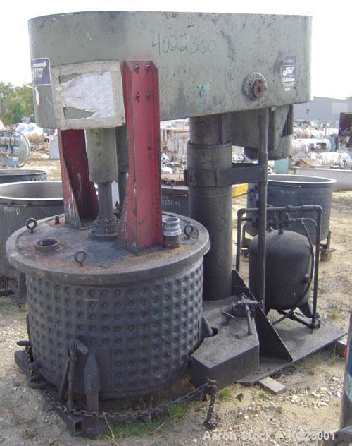 Used- Jaygo Disperser, Model D4. Driven by a  20 hp, 3/60/230/460 volt, 1755 rpm XP motor. Includes (5) approximately 80 gal...