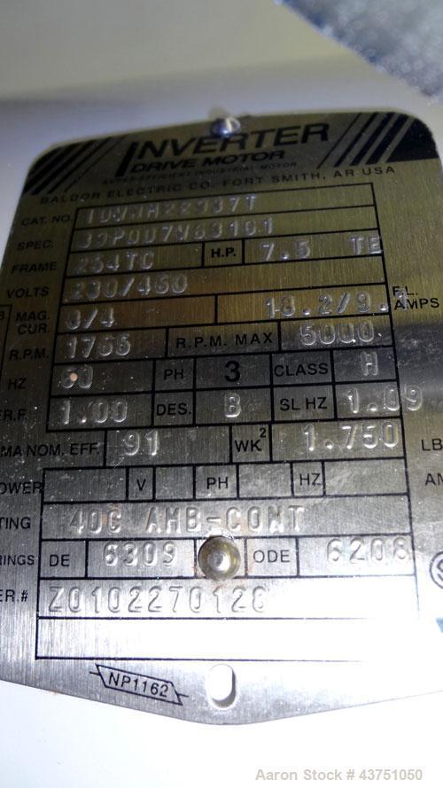 "Used- Jaygo Variable High Speed High Shear Disperser, Model HS-7510. (1) 2"" Diameter stainless steel shaft with an 8"" diamet..."