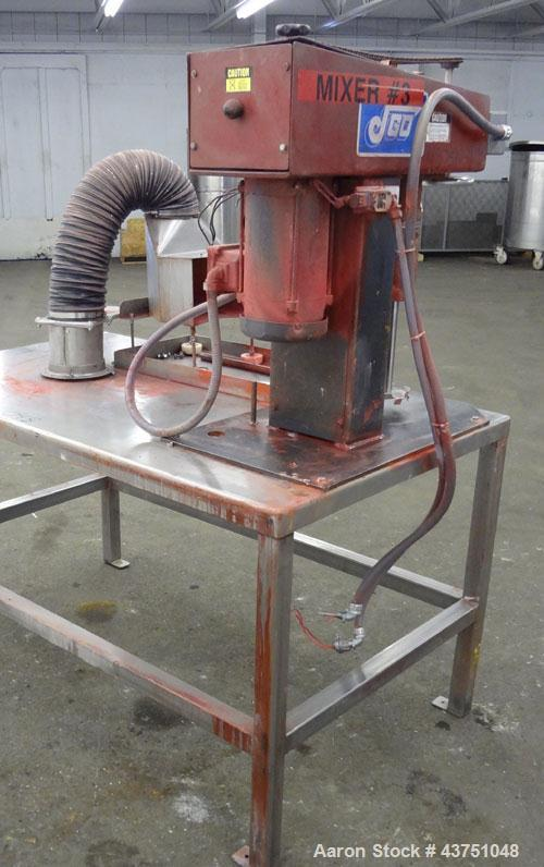 "Used- Jaygo Bench Top Lab Disperser, Model HS123. Approximate 7/8"" diameter shaft with a 4-1/2"" diameter sawtooth blade, dri..."
