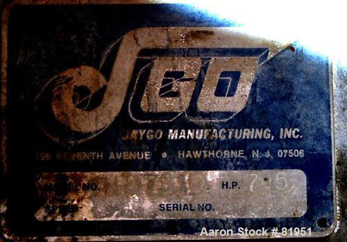 Used- Jaygo Variable High Speed Disperser, Model HS7510