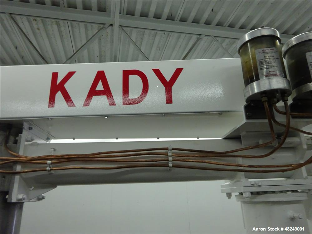 Used- Kady Top Entry Dispersion Mill, Model 25T, 316 Stainless Steel.