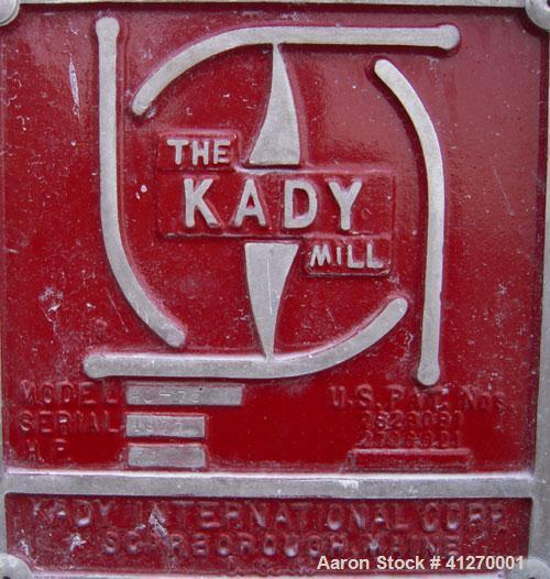 "Used- Kady Mill, Model 4A-C, 304 Stainless Steel. 250 gallon operating volume. 42"" diameter x 50"" deep stainless steel jacke..."