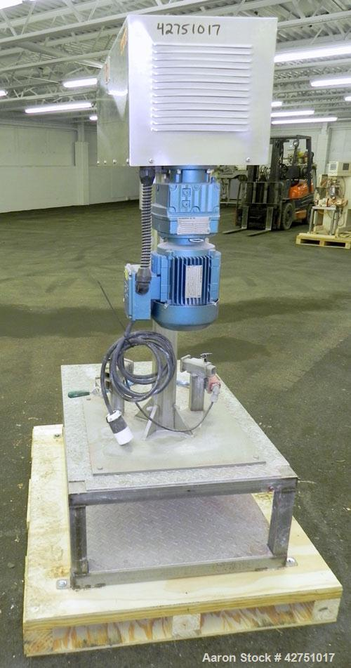 """Used- Keith Machinery Disperser Mixer. Approximate 5 gallon batch size, 14"""" rise. 1-1/2"""" Diameter X 14-3/4"""" long 304 stainle..."""