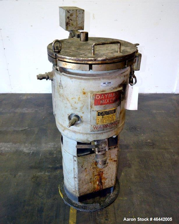 Used- J.H. Day Daymax Disperser, 10 Gallon Working Capacity (15 Total), 304 Stainless Steel. Carbon steel vertical jacketed ...