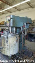 "Used- Myers Dual Shaft Mixer, Model V550/5004-5-5-737. (2) 2"" diameter shafts approximately 5 hp, air over oil lift, approxi..."