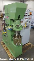 Used- 2.5 Gallon Turello, Vacuum, Jacketed Triple Shaft Mixer, Model TMD-10. Triple shaft vacuum jacketed mixer with can. St...
