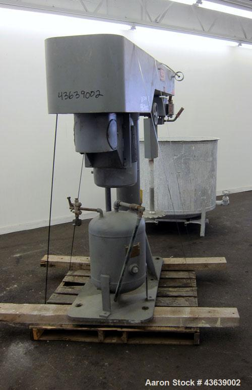 "Used- Myers Engineering Single Shaft Disperser, Model 800A-30. 2-1/4"" diameter x 46"" long 304 stainless steel shaft with a 1..."