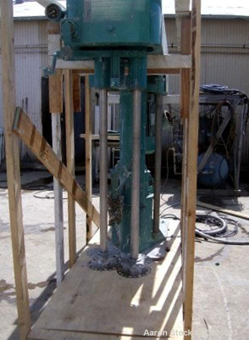 Used- Meyers Twin Shaft Disperser. (2) 2'' Diameter stainless steel shafts, mixing speed 0-3500 rpm, each with a 10'' diamet...