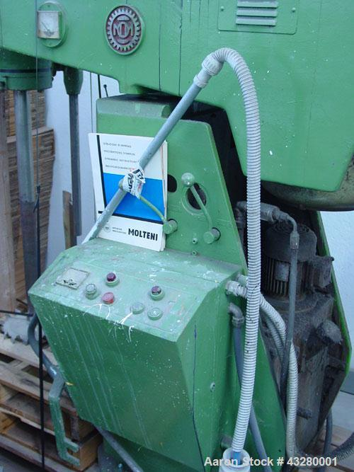 Used-Molteni TM 600 Disperser, main motor 25 hp (18.5 kW), 2 drums included, 3 phase, 380V, additional lifting motor 1 hp (0...