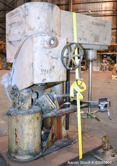 Used- Mooney Machine Manufacturing Dual Shaft Disperser