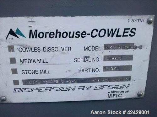 Used-Morehouse Cowles Dissolver, model VISC-MAX2V-3-2, part #471364.