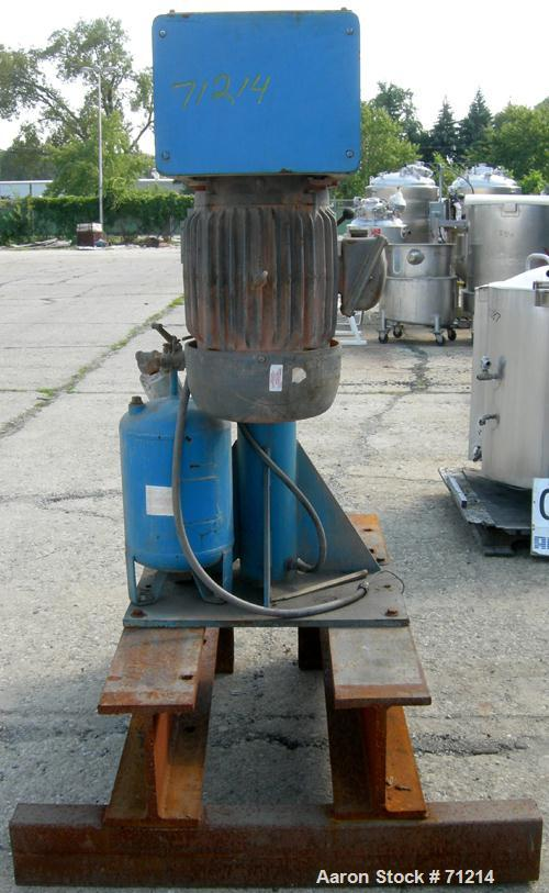 "USED: Cowles dissolver, model W-25-2X. 180-275 gallon batch sizes. 2-1/2"" diameter x 56"" long 304 stainless steel shaft. Air..."