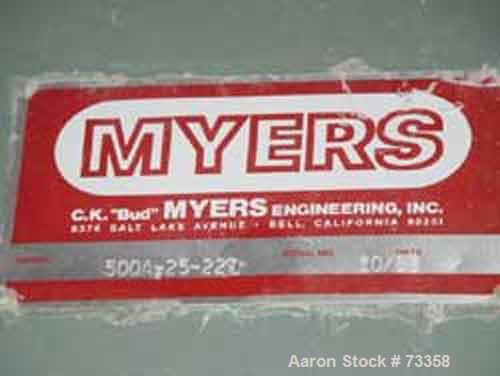 Used- Meyers Heavy Duty Slow Speed Disperser, Model 500-A-25