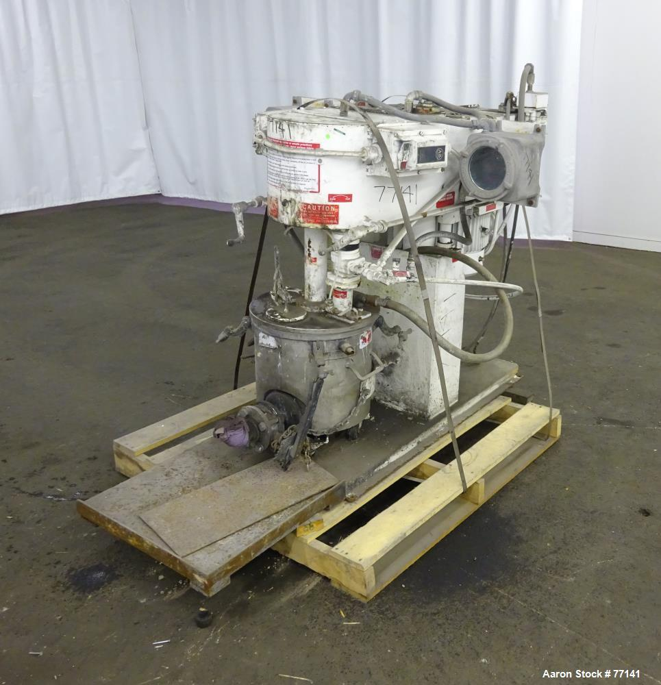 Used: Stainless Steel Myers triple shaft mixer, model 550A-3-3