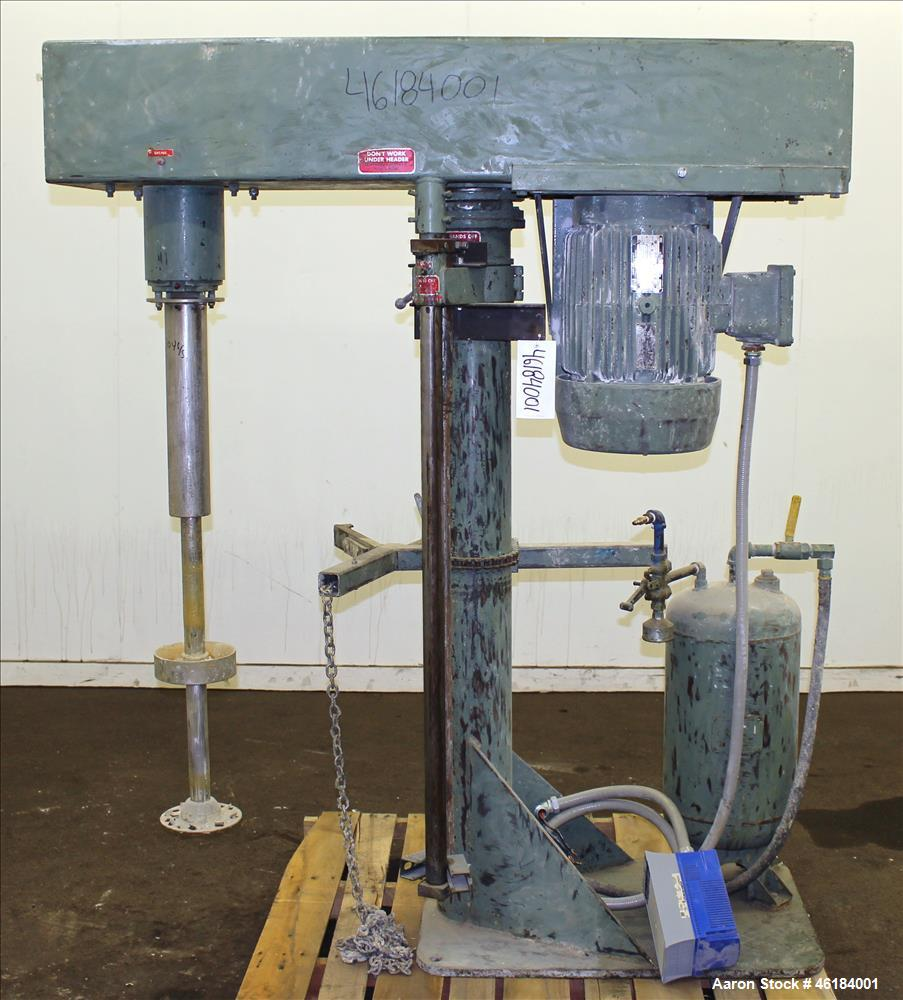 "Used- Myers Single Shaft High Speed Disperser, Model 775-10. 304 Stainless steel shaft approximately 1-3/4"" diameter x 45-1/..."