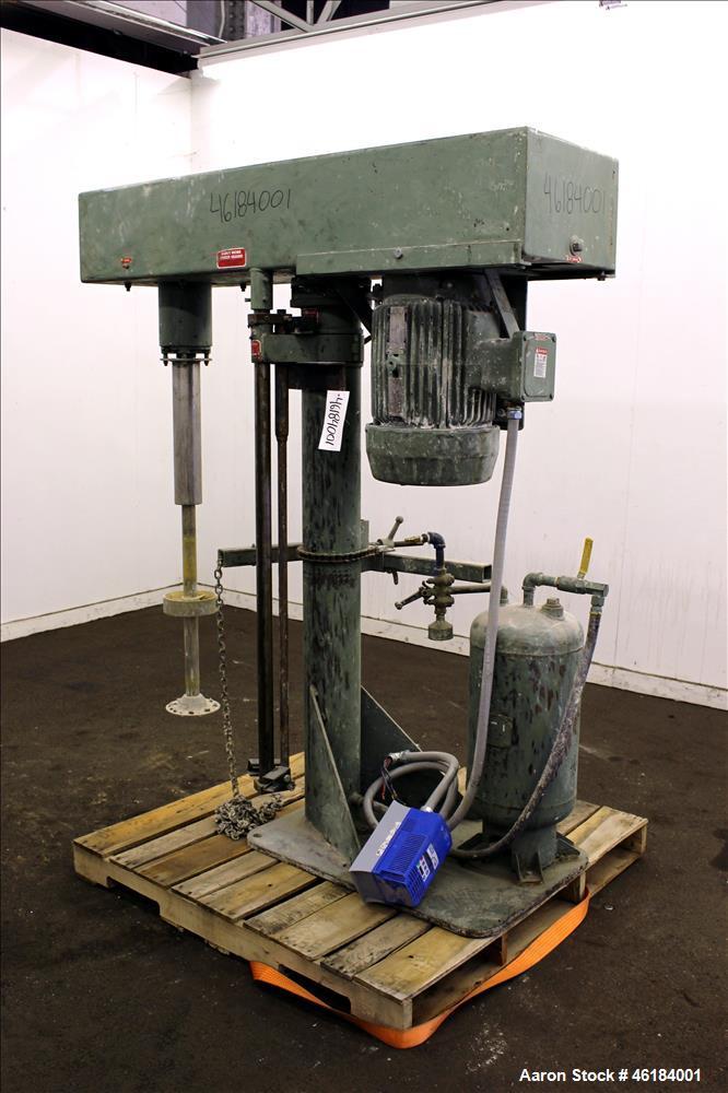 "Used- Myers Single Shaft High Speed Disperser, Model 775-10. 304 Stainless steel shaft approximately 1-3/4"" diameter x 45-1/..."