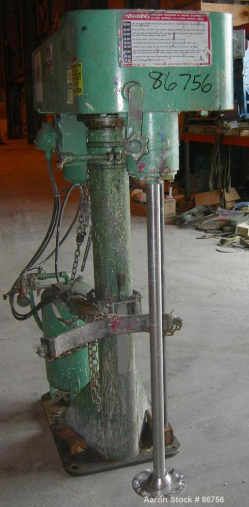 "USED: Myers disperser, model 775A10. (1) 2"" diameter x 45"" long 304 stainless steel shaft with an 8"" diameter standard blade..."