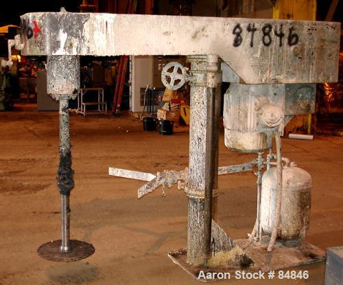 """Used- Myers Heavy Duty Disperser, Model 800-25. 2"""" diameter stainless steel shaft with 16"""" diameter sawtooth blade. Will cen..."""