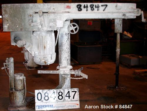 """Used- Myers Heavy Duty Disperser, Model 800-30. 2"""" diameter stainless steel shaft with 16"""" diameter sawtooth blade. Will cen..."""