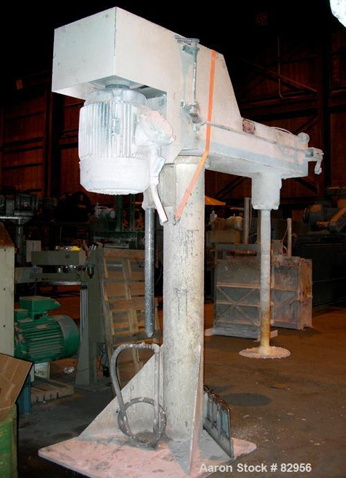 "Used- Myers Dissolver, Model 800A-75. 3-1/2"" Diameter x 48"" long stainless steel shaft with 20"" diameter sawtooth blade. Wil..."