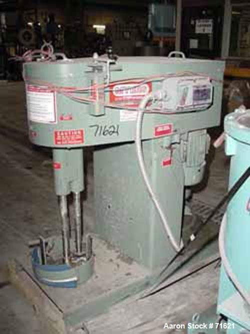 Used: Myers dual shaft mixer, model L550A-3-5-959