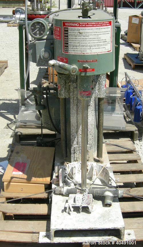 """Used- Myers Disperser, Model LDA-2. 1 1/4"""" diameter x 22"""" long 304 stainless steel shaft with a 3 1/2"""" diameter 304 stainles..."""
