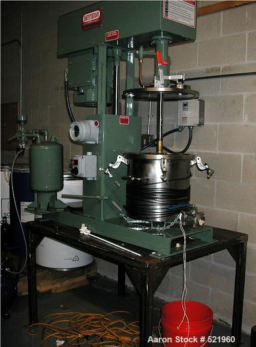 USED: Myers VL775A series single motor, single shaft, high speed laboratory disperser with vacuum tank and cover. Motor 3 hp...