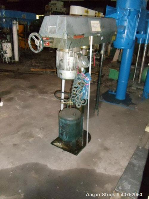 Used- Disperser Mixer. Stainless steel shaft, air/oil lift, 10 hp motor.